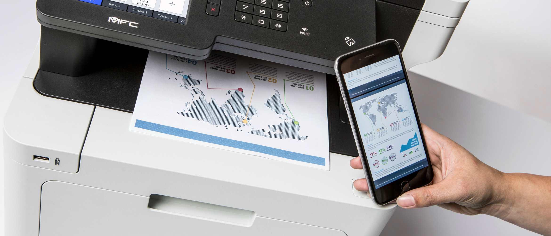 Quero imprimir a partir do meu dispositivo móvel! Brother