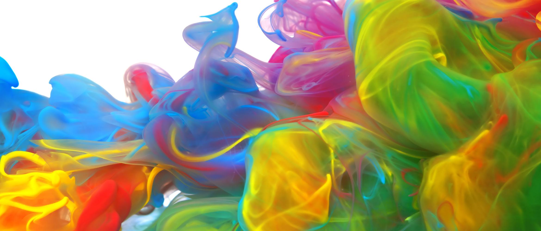 Diluição de tintas de cores