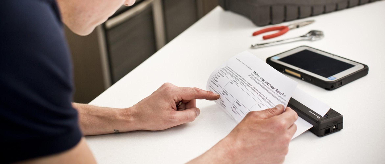Soluções de impressão portátil para trabalhadores em mobilidade
