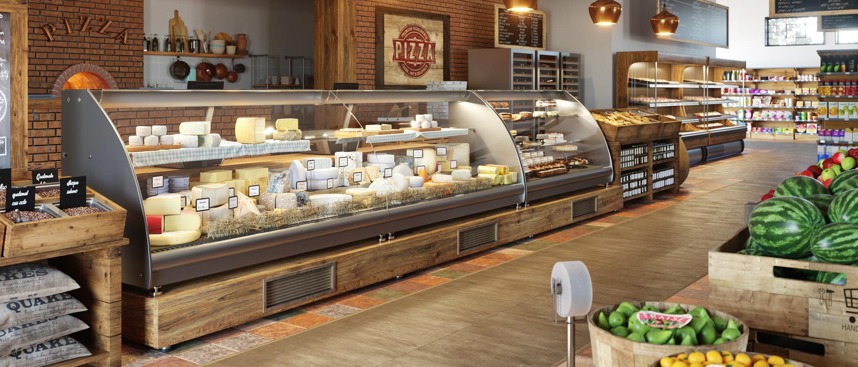 Balcão com queijos