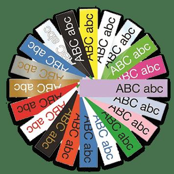 Cor e tipos fitas TZe