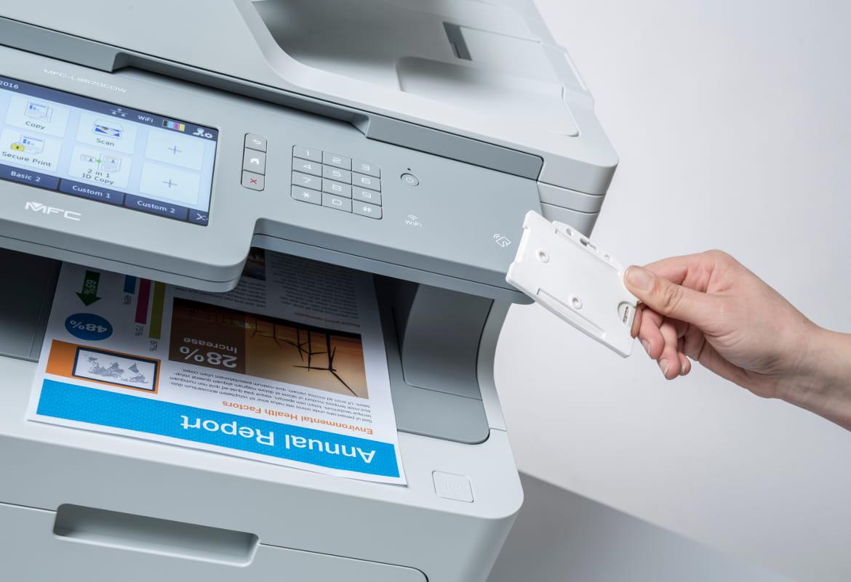 Cartcartão de identificação NFC impressora MFC-L9570CDWTSP