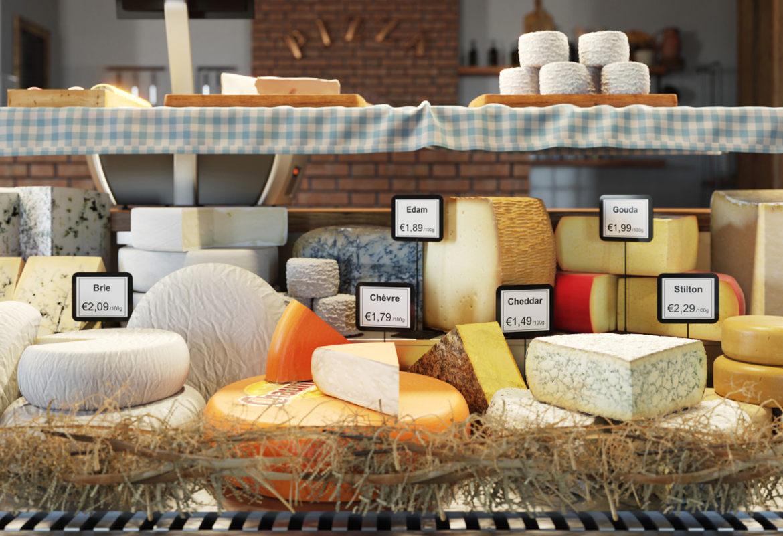 Exibir com queijos