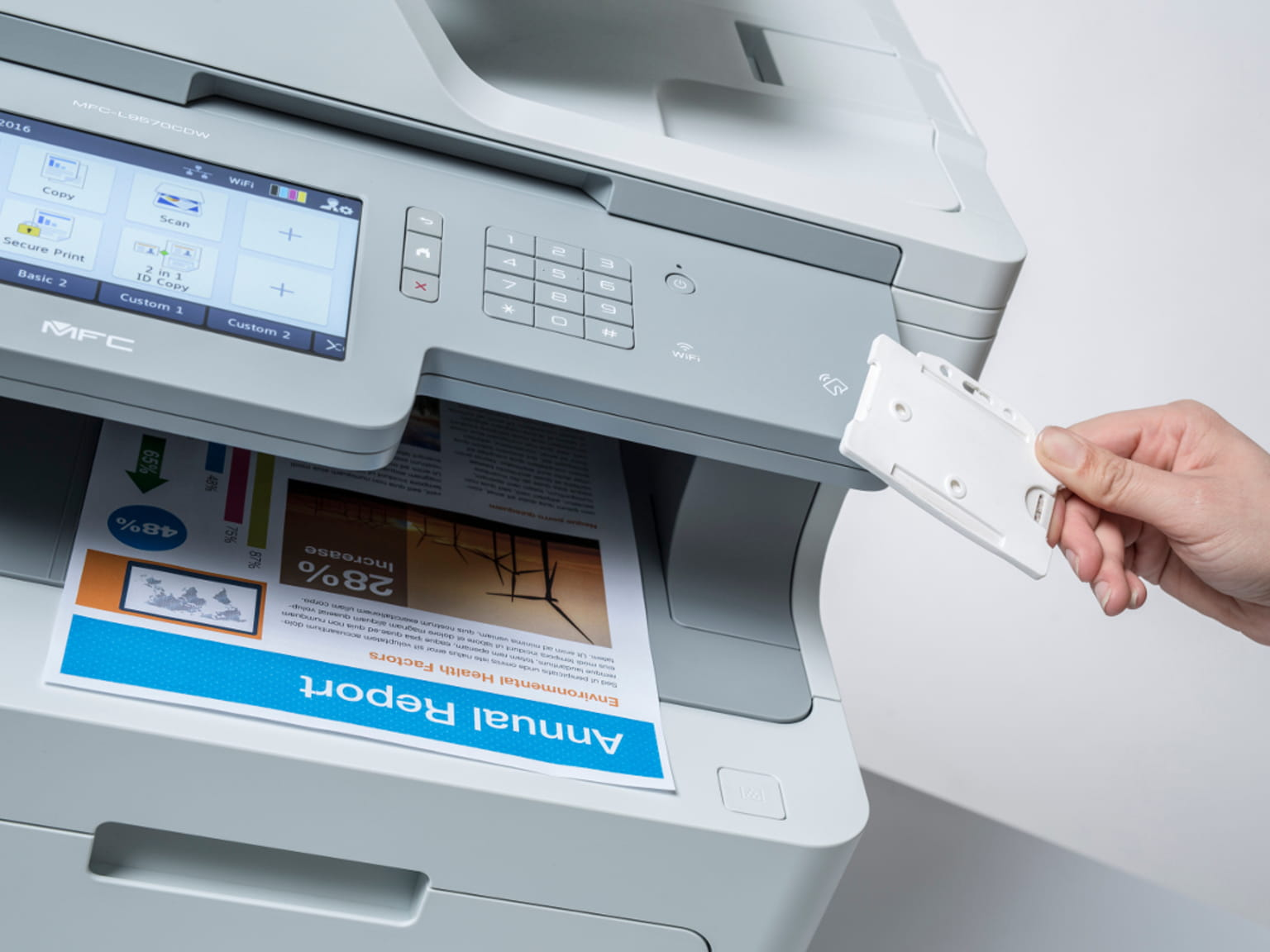 Impressora Brother con SecurePrint