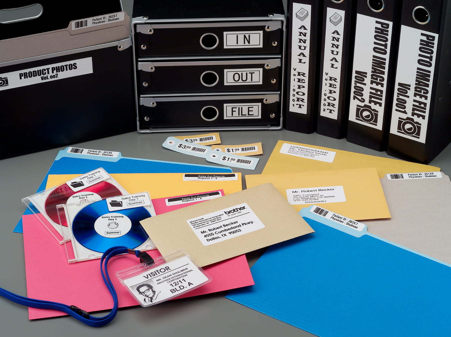 Aplicações de Impressoras de Etiquetas Brother
