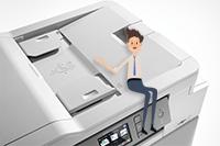 Impressora multifunções de tinta MFC-J1300DW All in Box