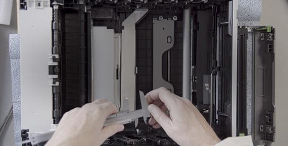 Mudança de consumível na impressora