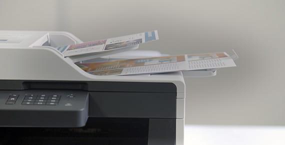 Detalhe impressora Brother