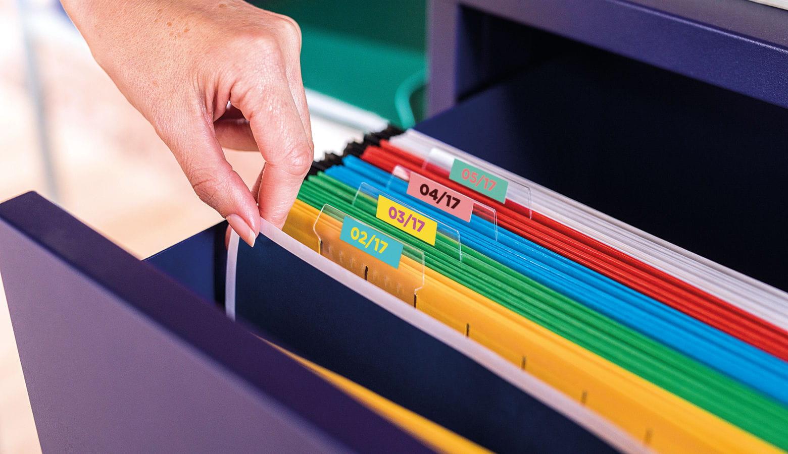Etiquetas para organização de documentos
