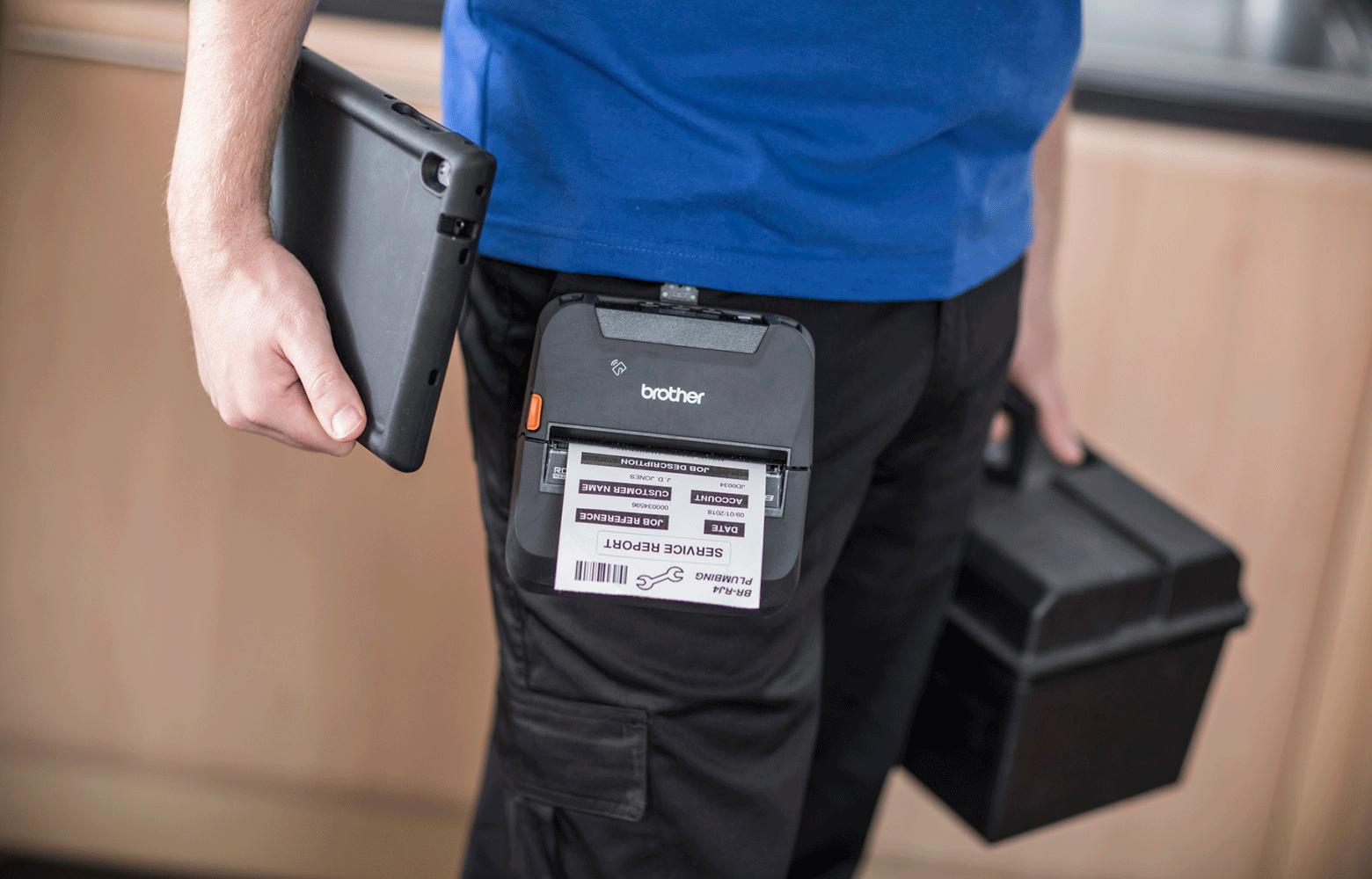 Impressora portátil RJ Brother para trabalhadores em mobilidade