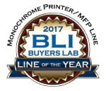 Monochrome Printer / MFP Line. BLI Buyers Lab. Line of the year 2017