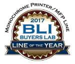 Monochrome Printer / MFP Line. BLI Buyers Lab. Line of the year 2017