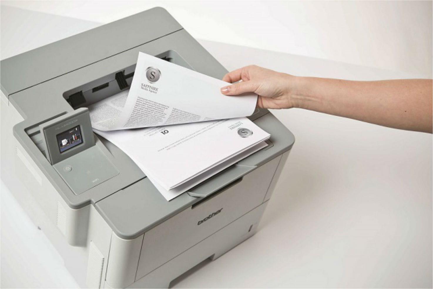 Impressora multifunções laser monocromática série L6000, Brother