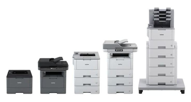 Impressoras laser monocromáticas L6000, Brother