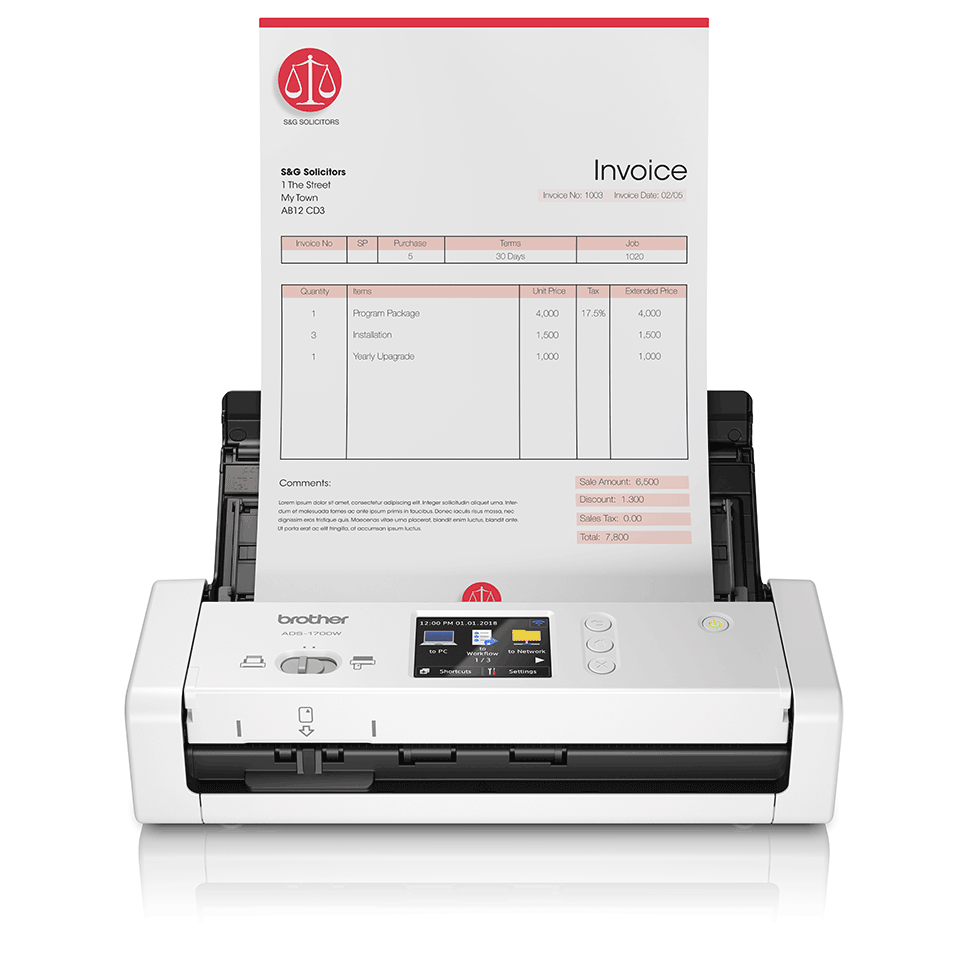 Scanner compacto ADS-1700W Brother